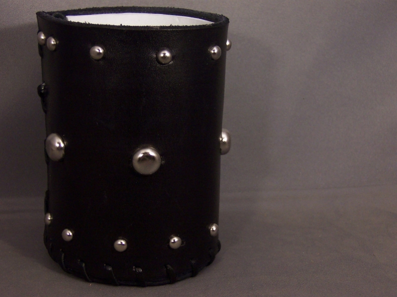 Minion belt and studded can coozie 005