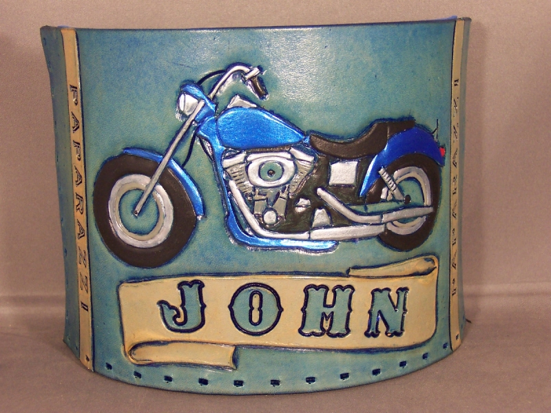 Motorcycle coozie, Sun moon stars belt 001