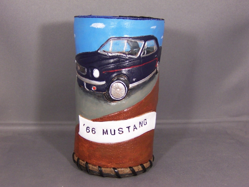 Mustang and fireman coozies 002