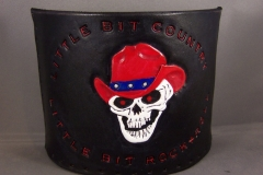 Country Rock & Roll Skull coozie 001