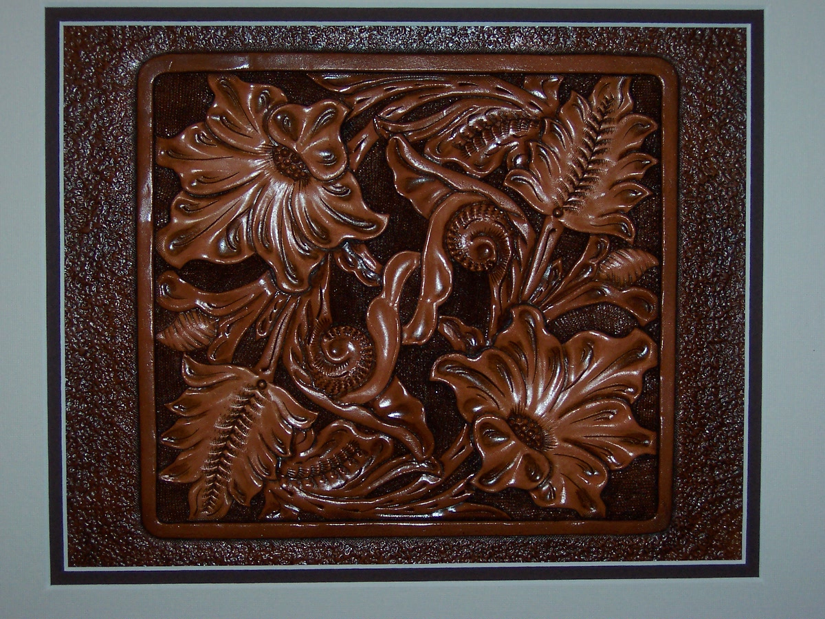 Tooled Floral 8x10