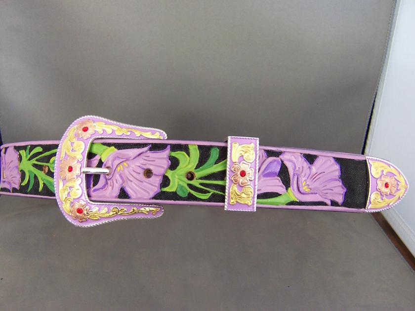 Purple Floral Belt