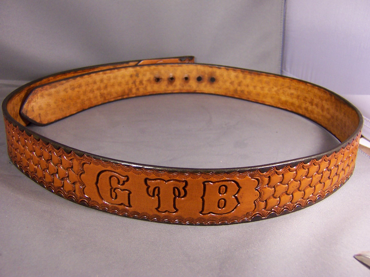 Tri-Weave Belt with Initals