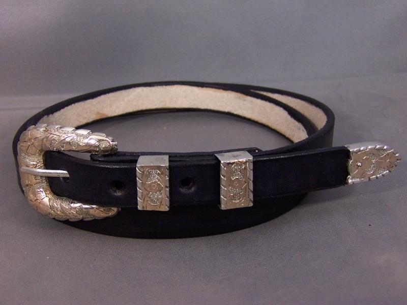 Plain Black Belt with Buckle Set