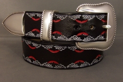 Stamped Border Belt