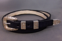 Plain Black Belt with Buckle Set