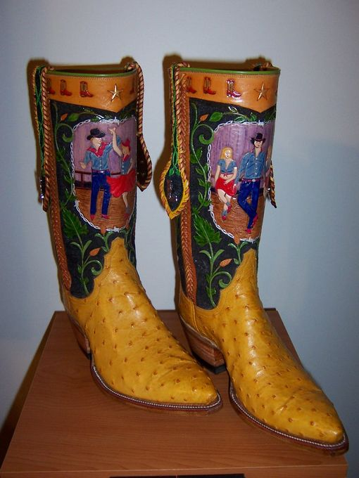 Custom Tooled Leather Boot Tops
