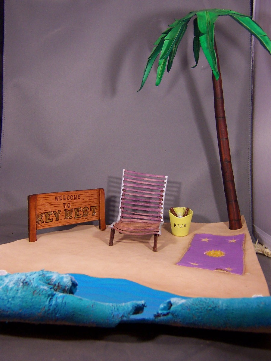 3D Beach Scene