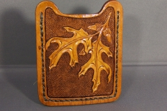 Oak Leaf Money Clip Card Case